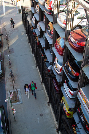 Vertical Car Park in Manhattan