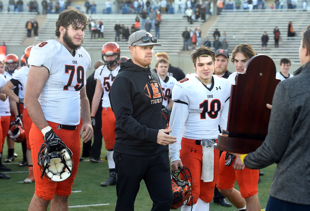 . The Erie High School Tigers lost to Palmer Ridge at the 3A State Championship game.  Cliff Grassmick / Staff Photographer/ December 2, 2017, 2017