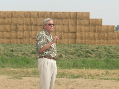 Dennis Drumm during the dedication