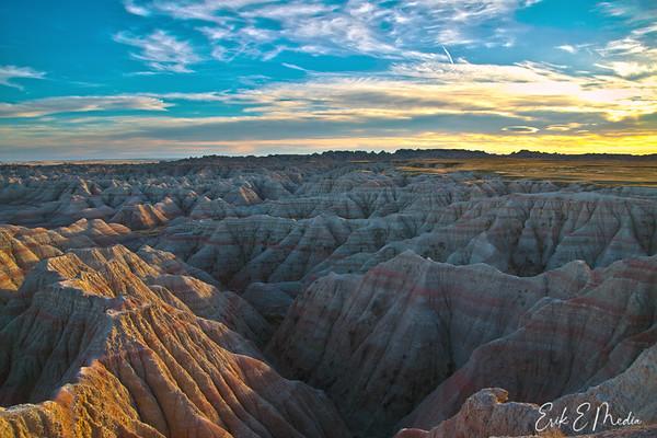 Badlands HDR Sunset