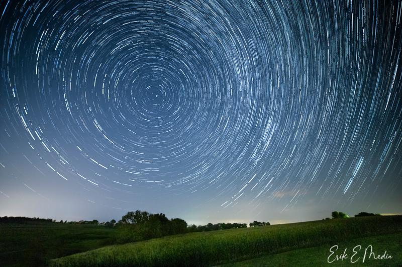 Rural Wisconsin Star Trails