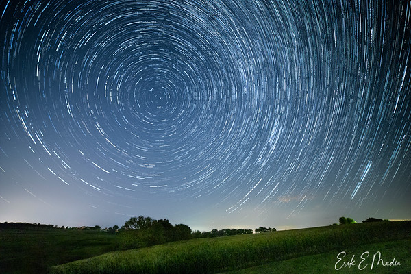 Rural Wisconsin Star Trails