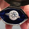 1.61ct Round Brilliant Diamond AGS E VS2 Erika Winters Jin Bezel Setting