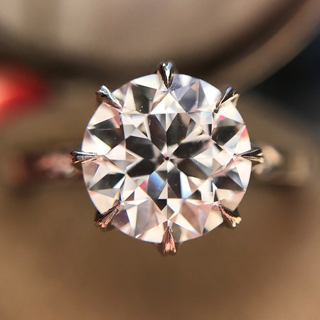 "1.92ct Transitional Cut Diamond GIA E VS1, Erika Winters ""Grace"" Solitaire"