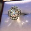 2.67ct Antique Cushion Cut Diamond in Iris Halo, by Erika Winters 15