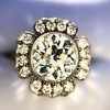 2.67ct Antique Cushion Cut Diamond in Iris Halo, by Erika Winters 19