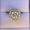 2.67ct Antique Cushion Cut Diamond in Iris Halo, by Erika Winters 29