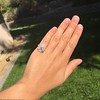 2.67ct Antique Cushion Cut Diamond in Iris Halo, by Erika Winters 39