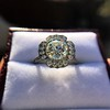 2.67ct Antique Cushion Cut Diamond in Iris Halo, by Erika Winters 48