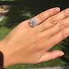2.67ct Antique Cushion Cut Diamond in Iris Halo, by Erika Winters 31