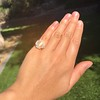 2.67ct Antique Cushion Cut Diamond in Iris Halo, by Erika Winters 5