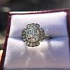 2.67ct Antique Cushion Cut Diamond in Iris Halo, by Erika Winters 51