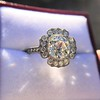 2.67ct Antique Cushion Cut Diamond in Iris Halo, by Erika Winters 21
