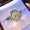 2.67ct Antique Cushion Cut Diamond in Iris Halo, by Erika Winters 0