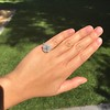 2.67ct Antique Cushion Cut Diamond in Iris Halo, by Erika Winters 16
