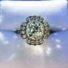 2.67ct Antique Cushion Cut Diamond in Iris Halo, by Erika Winters 51