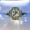 2.67ct Antique Cushion Cut Diamond in Iris Halo, by Erika Winters 55