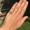 2.67ct Antique Cushion Cut Diamond in Iris Halo, by Erika Winters 45
