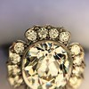 2.67ct Antique Cushion Cut Diamond in Iris Halo, by Erika Winters 54