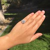 2.67ct Antique Cushion Cut Diamond in Iris Halo, by Erika Winters 35
