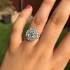 2.67ct Antique Cushion Cut Diamond in Iris Halo, by Erika Winters 2