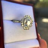 2.67ct Antique Cushion Cut Diamond in Iris Halo, by Erika Winters 32