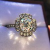 2.67ct Antique Cushion Cut Diamond in Iris Halo, by Erika Winters 11