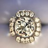 2.67ct Antique Cushion Cut Diamond in Iris Halo, by Erika Winters 8