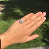 2.67ct Antique Cushion Cut Diamond in Iris Halo, by Erika Winters 18
