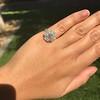 2.67ct Antique Cushion Cut Diamond in Iris Halo, by Erika Winters 37