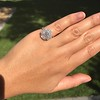 2.67ct Antique Cushion Cut Diamond in Iris Halo, by Erika Winters 22