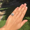 2.67ct Antique Cushion Cut Diamond in Iris Halo, by Erika Winters 45