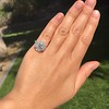 2.67ct Antique Cushion Cut Diamond in Iris Halo, by Erika Winters 41