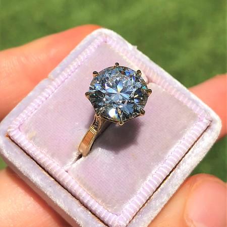 3.86ct Transitional Cut Diamond, Erika WInters' Margot, GIA K VS2