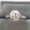 1.54ct Old European Cut Diamond Solitaire GIA L VS1 Grace Solitaire 8