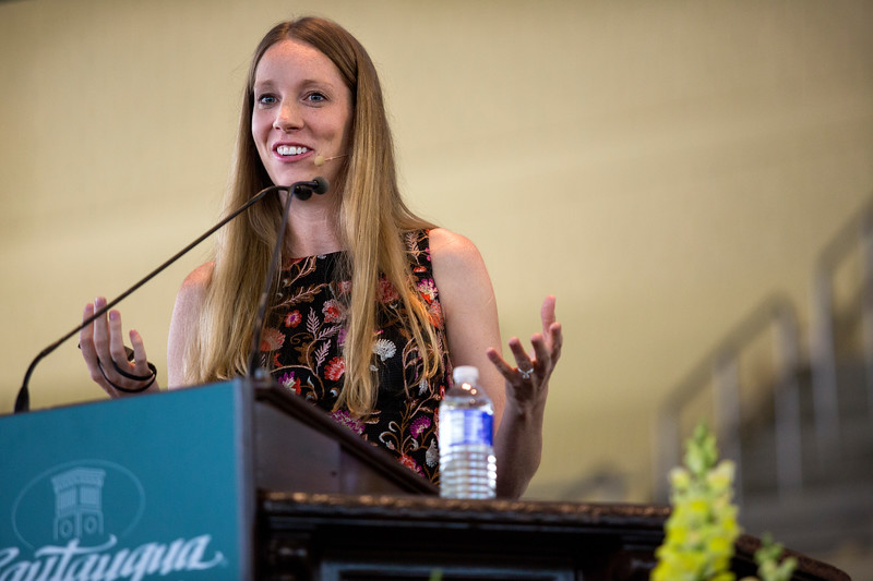 Profile IBM engineer Lisa Seacat DeLuca presents during the Morning Lecture in the Amp on Wednesday, June 28, 2017. ERIN CLARK / STAFF PHOTOGRAPHER