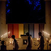 The CLSC Class of 2017 performs their annual candle light vigil on Sunday, July 30, 2017 in the Hall of Philosophy. ERIN CLARK / STAFF PHOTOGRAPHER