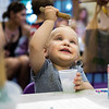 Alex Cedro plays with slime at the Children's School open house on Friday, July 14, 2017. ERIN CLARK / STAFF PHOTOGRAPHER