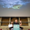 National Geographic Society marine wildlife photojournalist Brian Skerry discusses his career to a packed Amp on Tuesday, July 4, 2017. Erin Clark / STAFF PHOTOGRAPHER