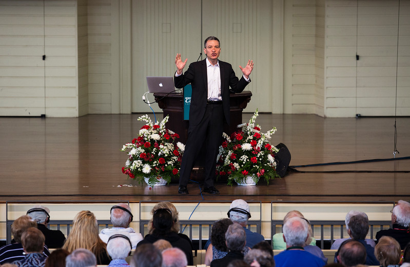 Jeffrey Rosen, President and CEO of the National Constitution Center, speaks during Wednesday's morning lecture on July 26, 2017 in the Amp. ERIN CLARK / STAFF PHOTOGRAPHER
