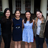 Finalists from the Chautauqua Piano Competition from left Joshua Tan, Soyeon An, Yinuo Wang, Phyllis Pan, Chaeyoung Park, and Rixiang Huang pose for a portrait on Monday, July 25, 2017. ERIN CLARK / STAFF PHOTOGRAPHER