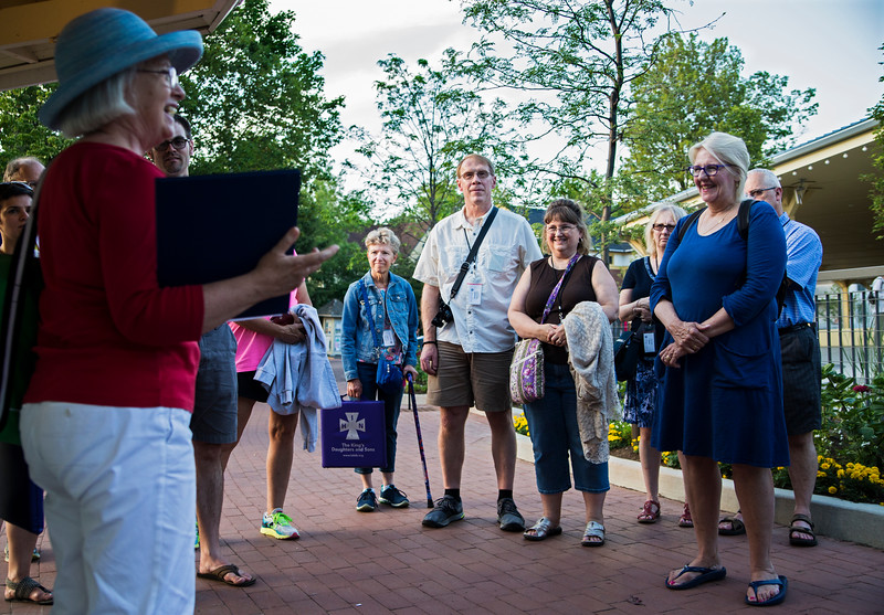 Clergy members get acquainted with the Chautauqua grounds during a tour hosted by Christine Dawson on Sunday, July 30, 2017. ERIN CLARK  / STAFF PHOTOGRAPHER