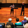 Richard Sherman, the Rita and Dunbar VanDerveer Symphony Principal Chair for Flute, teaches proper flute techniques to Jennie Cross during a Master Flute class in Fletcher Music Hall on Monday, July 24, 2017. ERIN CLARK / STAFF PHOTOGRAPHER