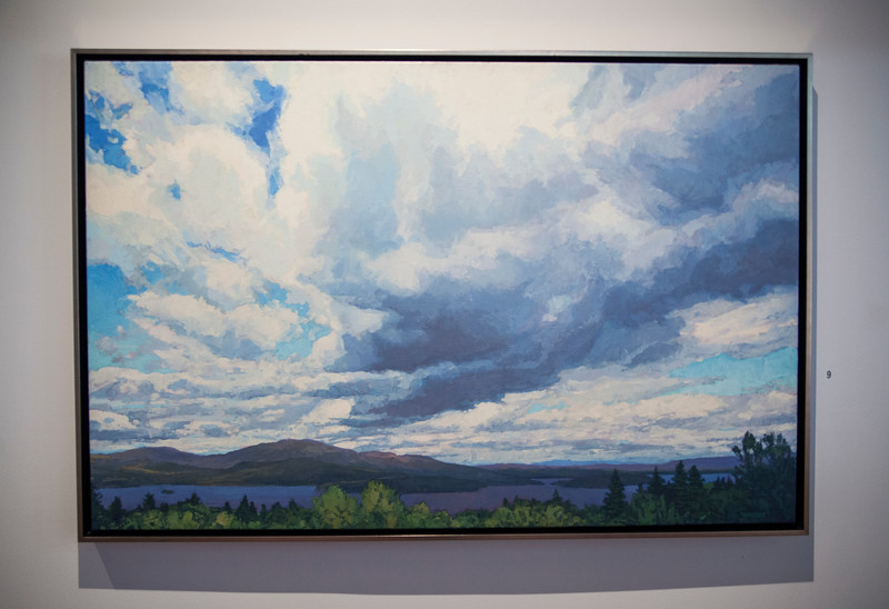 """""""Interlude of Light II"""", by Thomas Paquette, is displayed in """"Resting Place: The American Landscape"""" in the Strohl Art Center on Monday, July 3, 2017. ERIN CLARK / STAFF PHOTOGRAPHER"""