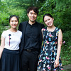 Winners from the Chautauqua Piano Competition from left Yinuo Wang, third place, Rixiang Huang, second place, and Chaeyoung Park, first place, pose for a portrait outside of Fletcher Music Hall onThursday, July 27, 2017.   ERIN CLARK / STAFF PHOTOGRAPHER