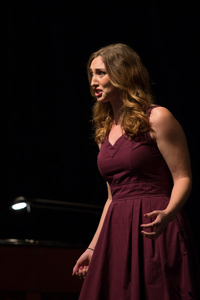 "Emily Howes, mezzo-soprano, sings ""Smanie implacabili"" from Coso fan tutte by Wolfgang Amadeus Mozart at the Young Artists Sing-In on Monday, June 19, 2017. ERIN CLARK / STAFF PHOTOGRAPHER"