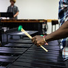 Josh Jones, a percussion student, rehearses on the Vibraphone in preparation for his recital in Bellinger Assembley on Wednesday, August 2, 2017. ERIN CLARK / STAFF PHOTOGRAPHY