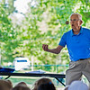 Don Rapp, 89, performs for the Children's School kids on Monday, July 31, 2017. ERIN CLARK  / STAFF PHOTOGRAPHER