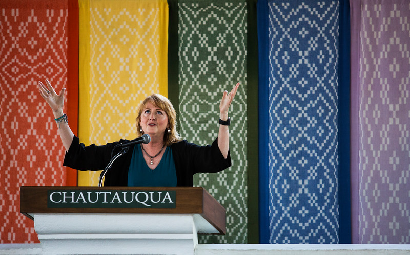 The Rev. Susan Sparks speaks at Vespers in the Hall of Philosophy on Sunday, July 30, 2017. ERIN CLARK / STAFF PHOTOGRAPHER