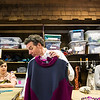 Visiting costume designer Richard St. Clair prepares costumes for Detroit '67 in the Brawdy Theater Studios costume shop with Lauren Venezia, left, and Cody Lorich. ERIN CLARK / STAFF PHOTOGRAPHER